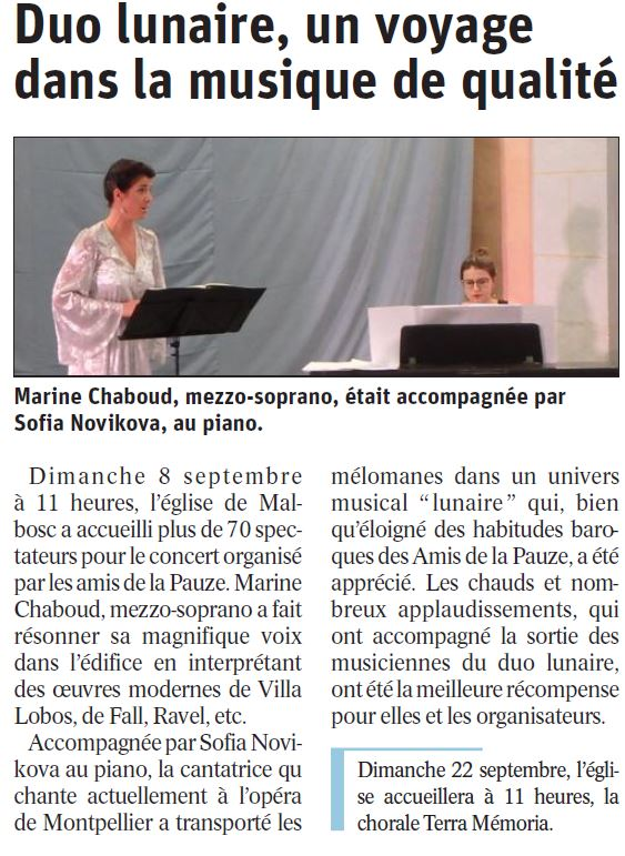 Article Malbosc Duo Lunaire